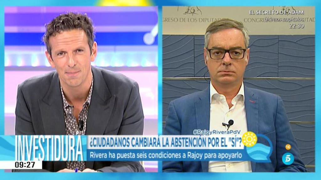"""Villegas: """"No estamos negociando un acuerdo de Gobierno sino de investidura"""""""