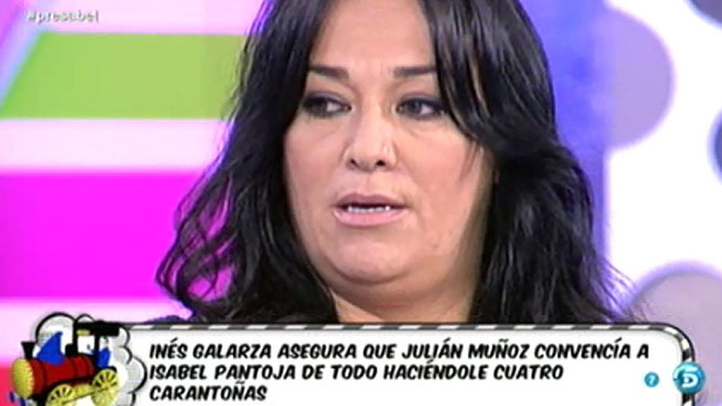 """Inés Galarza, corista de Pantoja: """"Julián Muñoz era quien daba el 'ok' a todo"""""""