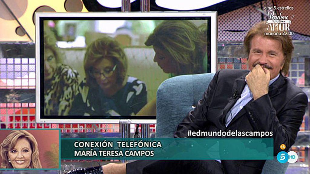 """María Teresa entra por teléfono: """"Quiero decir públicamente lo feliz que soy con Edmundo"""""""