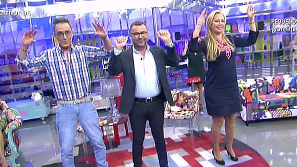 ¡Jorge Javier, Belén y Kiko H. hacen la coreografía de 'El baile de los pajaritos'!