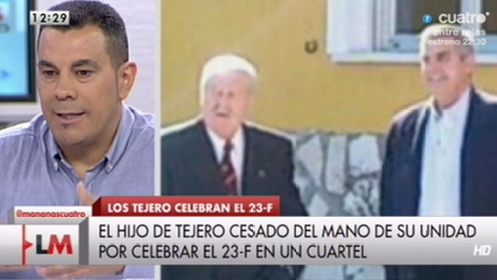 """Francisco Cecilia, sobre la comida de Tejero y otros golpistas: """"Esto desprestigia el buen nombre de la Guardia Civil"""""""