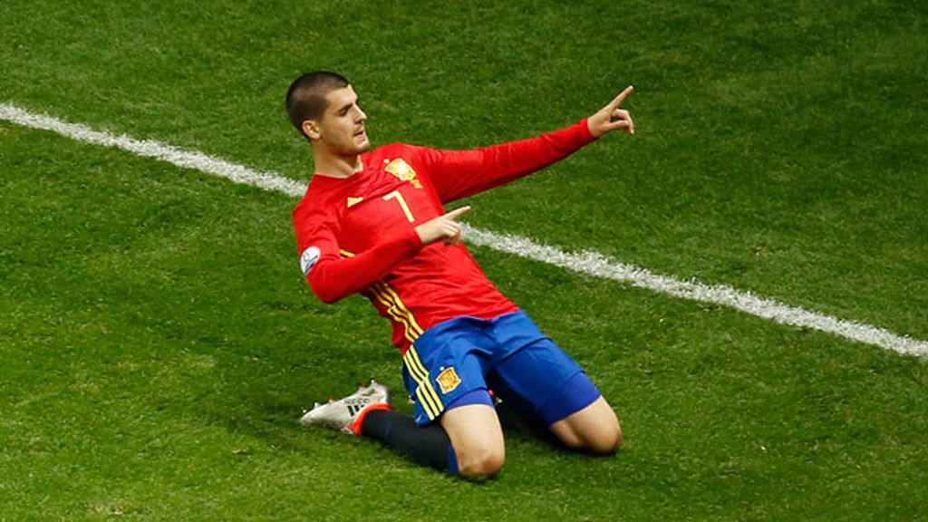 ¡Gol de Morata! Cabezazo del delantero que se va al fondo de la red (1-0)