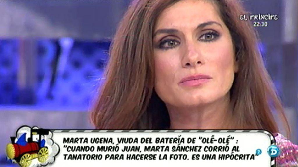 """Marta Ugena, sobre Marta Sánchez: """"Juan me dijo que tenía a Marta en su lista negra"""""""