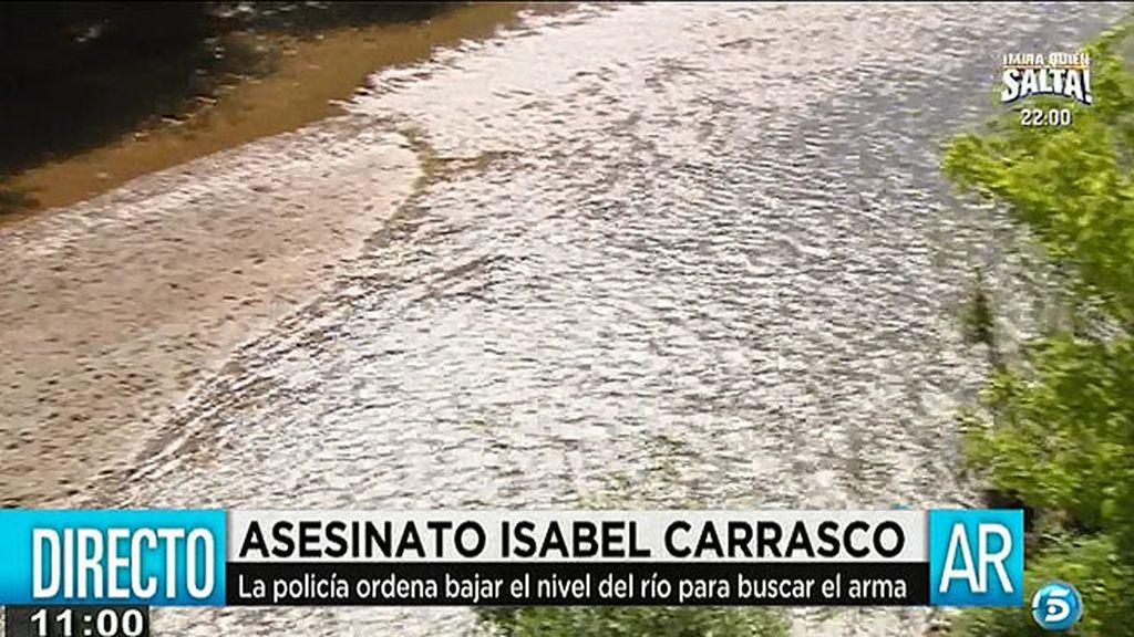 Ordenan bajar el nivel del río para buscar la pistola con la que fue asesinada I. Carrasco