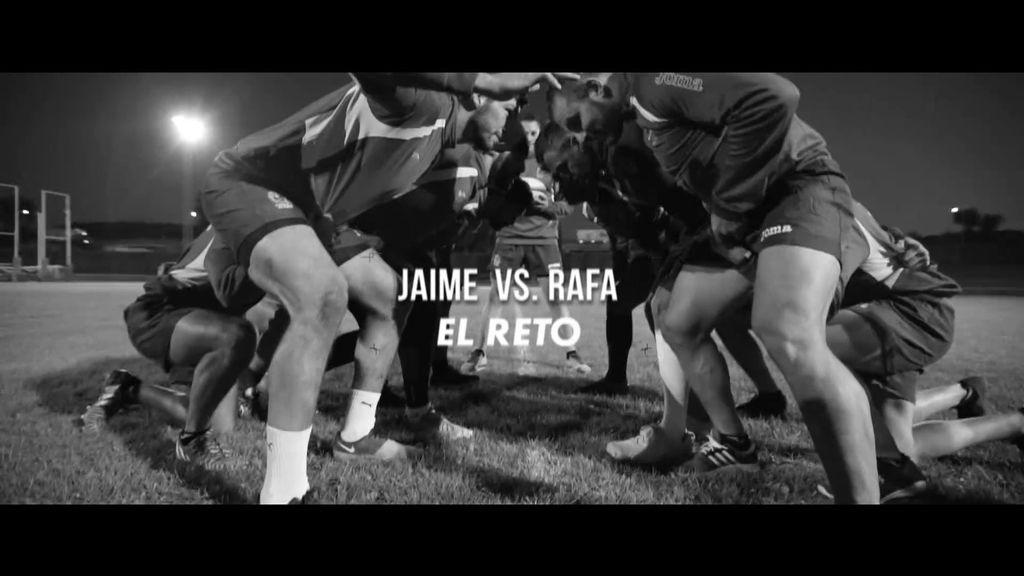 Con lesión incluida, Rafa acepta el reto contra Jaime: batirse en una melé