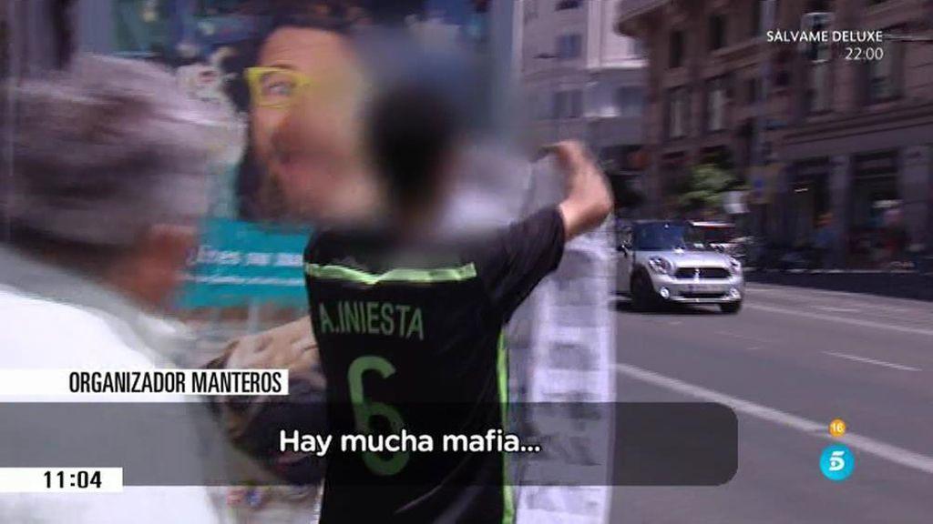'El Pera' localiza a una de los personas que organiza a los manteros de Madrid