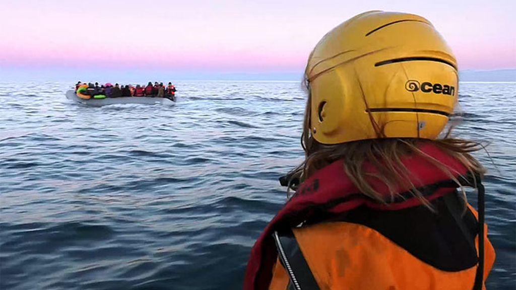 """Meritxell: """"Es impresionante ver a todas estas personas en una barca en medio de la nada"""""""
