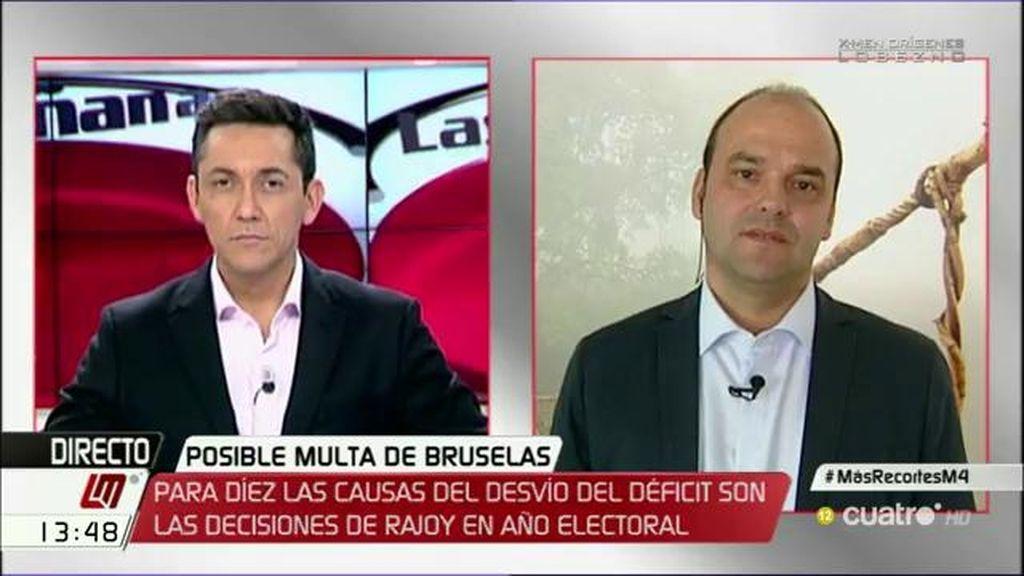 """José Carlos Díez: """"El déficit está aumentando, no es que Rajoy haya reducido la velocidad, es que ha aumentado"""""""