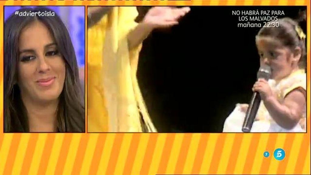 Isa con tan solo dos años en los escenarios con Niña Pastori y Dulce detrás del telón