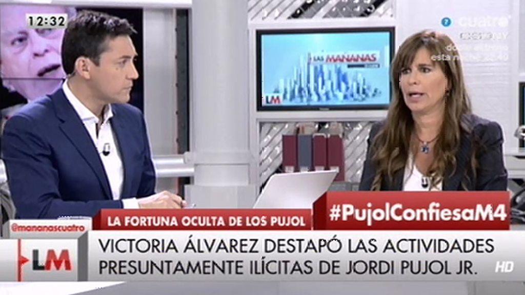 """Victoria Álvarez sobre el comunicado de Pujol: """"Esto es una tomadura de pelo"""""""