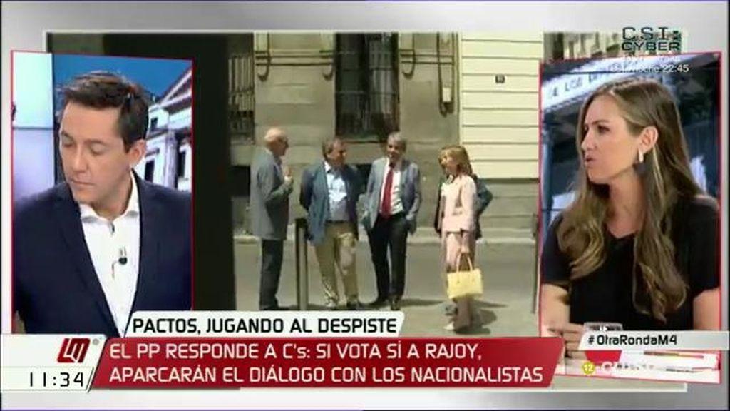 """Melisa Rodríguez apunta que Ciudadanos podría replantearse su abstención si el PP pacta """"con quien quiere romper España"""""""