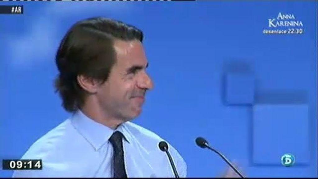 Aznar no acudirá a la convención nacional del PP