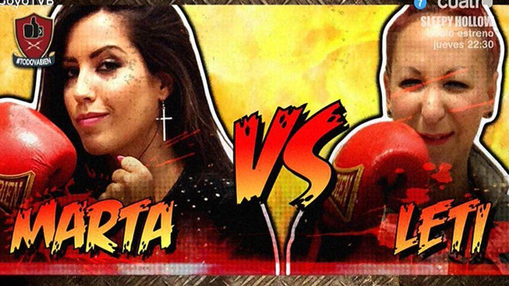 Duelo 'Street fighter' entre Leti y Marta