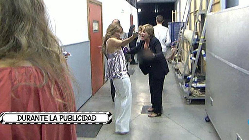 Así fue la discusión de María Patiño y Chelo Gª Cortés durante la publicidad del Deluxe