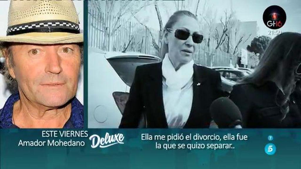 """Amador Mohedano: """"Con Rosa no hablo, lo que sé es por mis hijos"""""""