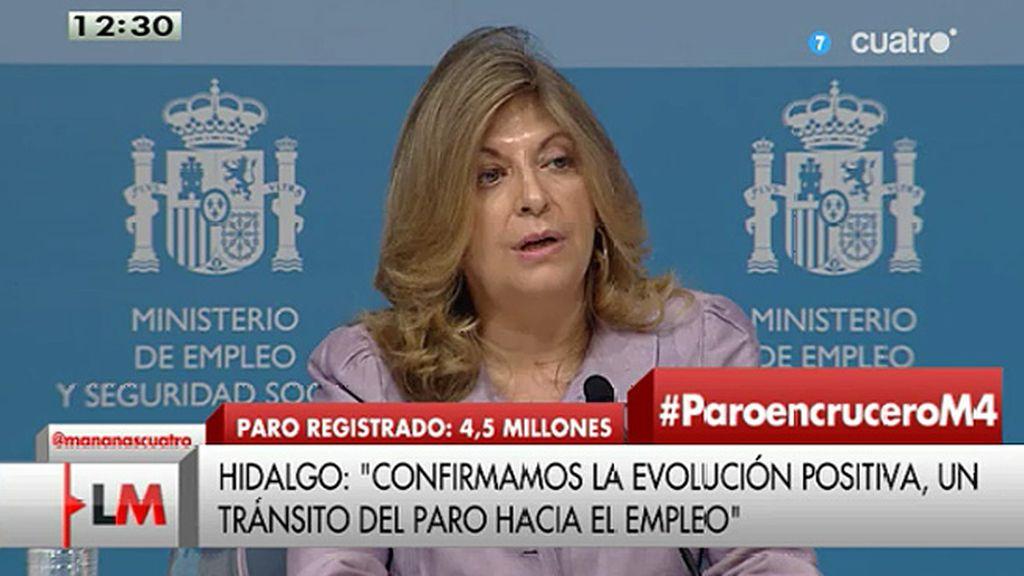 """Hidalgo: """"Es especialmente significativo el crecimiento de la contratación indefinida"""""""