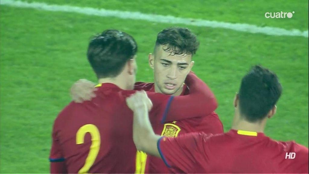 ¡El tercero de España! Munir no falta a su cita con el gol, esta vez desde fuera del área (3-0)