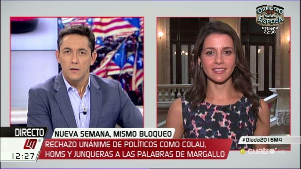 """Inés Arrimadas, sobre Cataluña: """"Lo que hay que hacer es reformar España"""""""