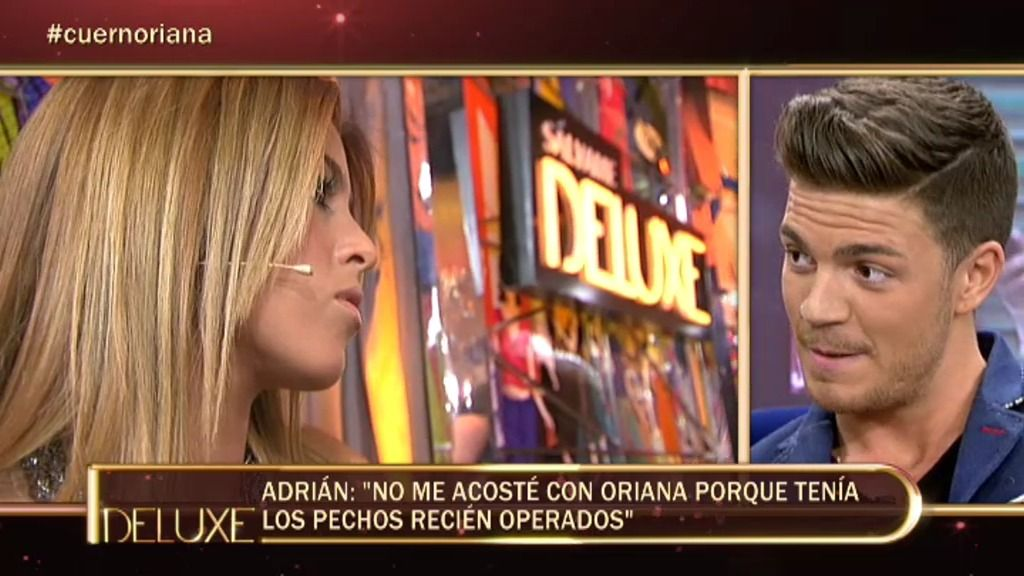 "Adrián, GH14: ""No me he acostado con Oriana pero ella quería"""