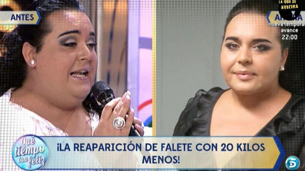 El antes y el después de Falete, con 20 kilos menos tras someterse a una lipoescultura