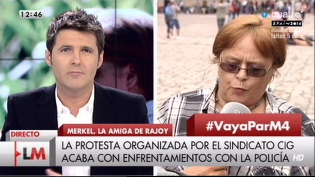 """Felina, manifestante: """"Queremos revindicar el saqueamiento del gobierno"""""""
