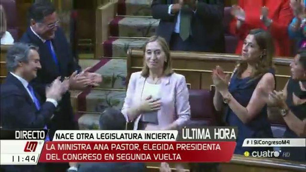 La Ministra Ana Pastor, elegida presidenta del Congreso en segunda vuelta