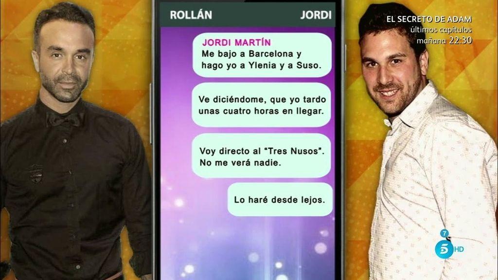 Jordi Martín destapa a Luis Rollán enseñando los mensajes que intercambiaban