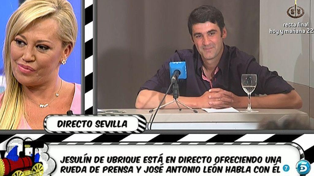 Jesulín de Ubrique evita que Belén Esteban le formule una pregunta en directo
