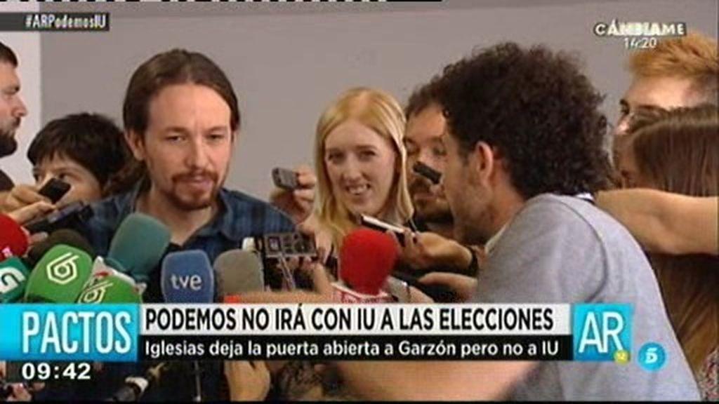 """Pablo Iglesias: """"Me encantaría contar con Alberto Garzón, pero no con IU"""""""