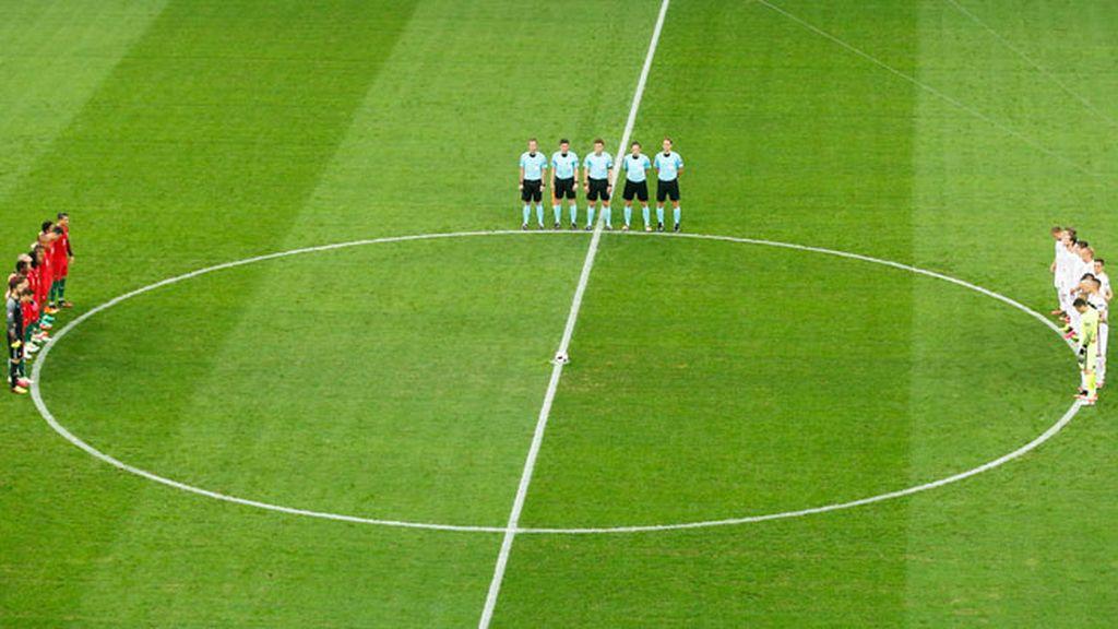 La Eurocopa vuelve a convertir un minuto de silencio en uno de aplausos