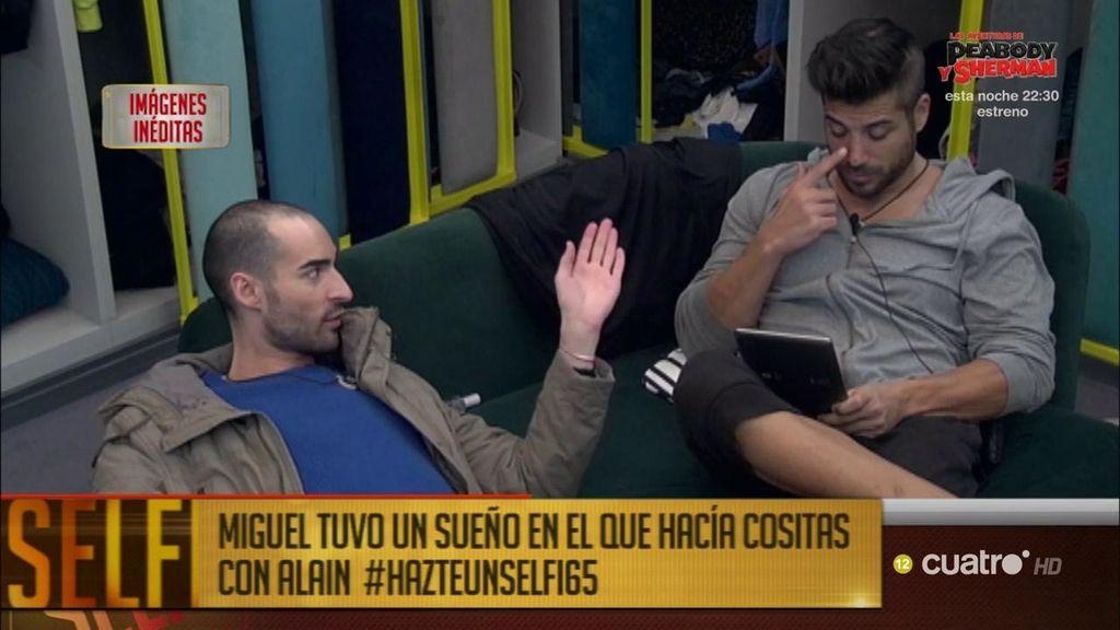 Imágenes inéditas: Miguel y su sueño erótico con Alain a lo 'mejillón'