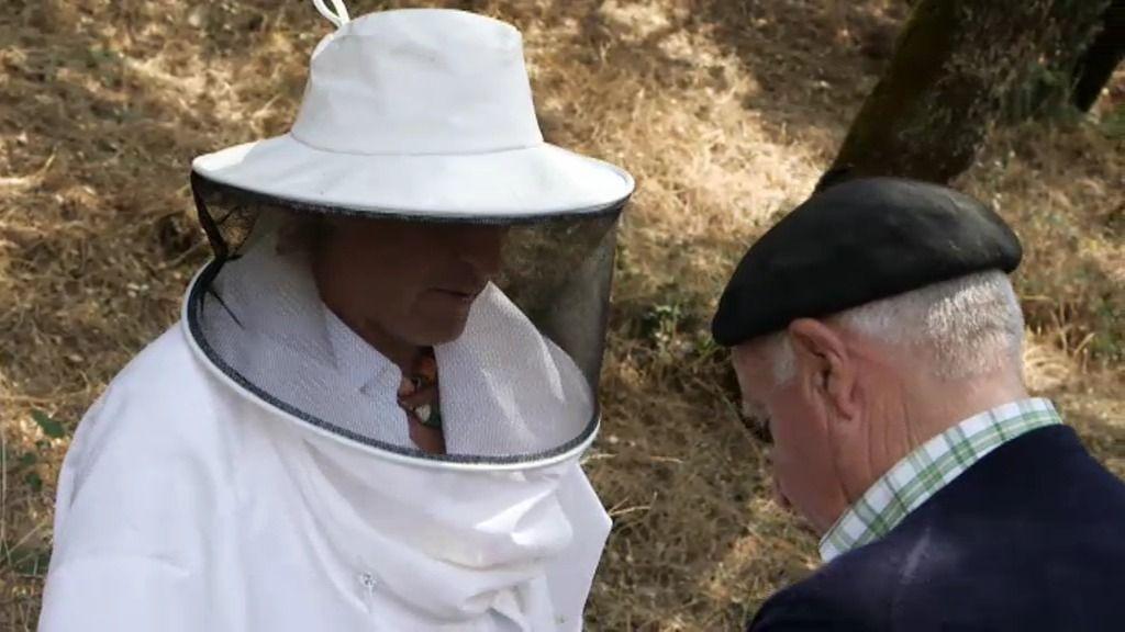 El señor Franco pone firme a Jesús Calleja para tratar a sus abejas