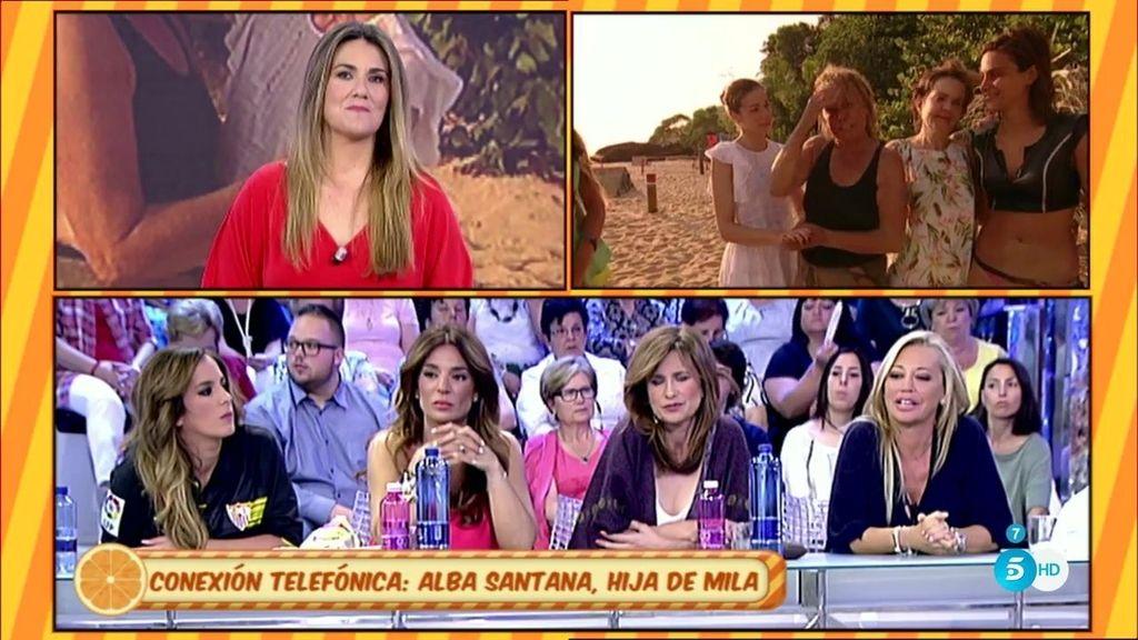 """Alba Santana, sobre su madre Mila Ximénez: """"El cambio físico es chocante"""""""