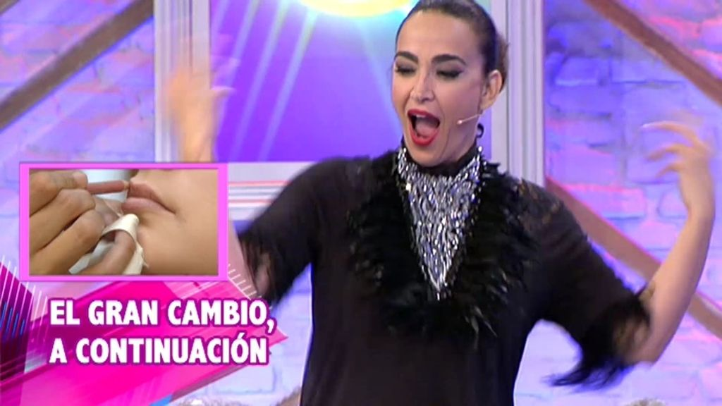 Cristina lo da todo al ritmo de Chimo Bayo