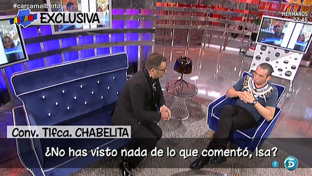 """Chabelita: """"No he visto la entrevista de Alberto Isla porque no me interesa"""""""