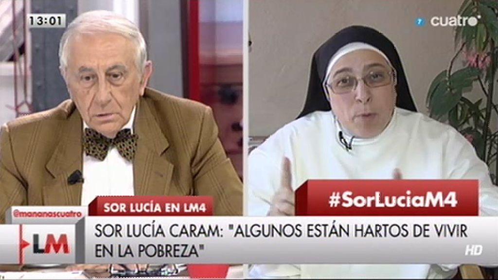 """I. Arias, a Sor Lucía: """"Es bien intencionada, pero la cátedra de la objetividad no se la doy"""""""
