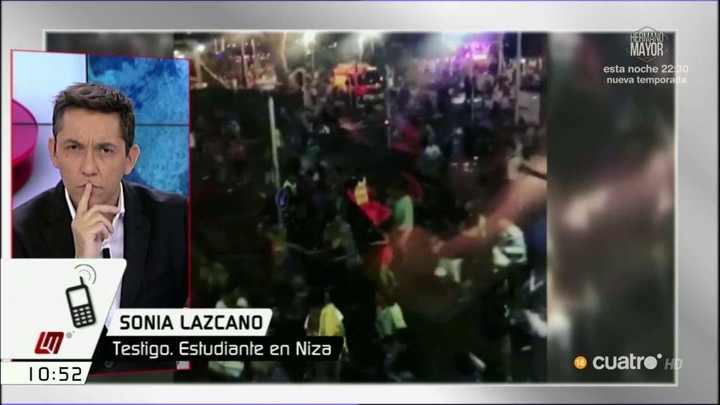 """Sonia, testigo y estudiante en Niza: """"Estamos todos bien, pero hay ambiente de miedo"""""""