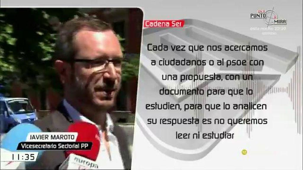 """Maroto: """"Cada vez que nos acercamos al PSOE con una propuesta, su respuesta es vamos a votaros que no y punto"""""""