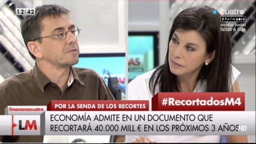 """Arenales, a Monedero: """"Con vuestra demagogia estáis debilitando la dignísima vocación de la política"""""""