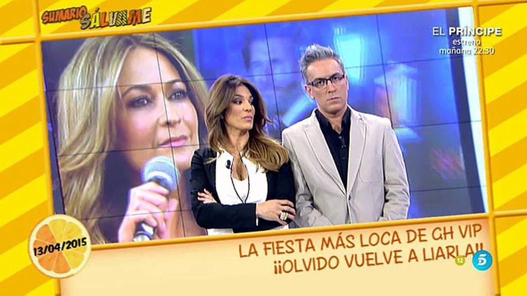 """Olvido Hormigos: """"Belén Esteban y yo nos ignoramos en la fiesta de 'GH VIP"""""""