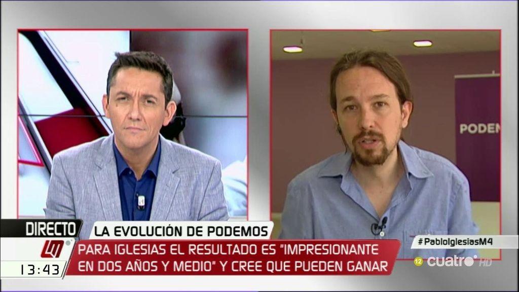 """Pablo Iglesias: """"A veces, si quieres ganar, tienes que parar el balón"""""""