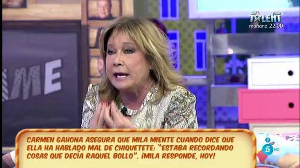 Mila Ximénez se niega a retractarse de lo que dijo sobre Carmen Gahona