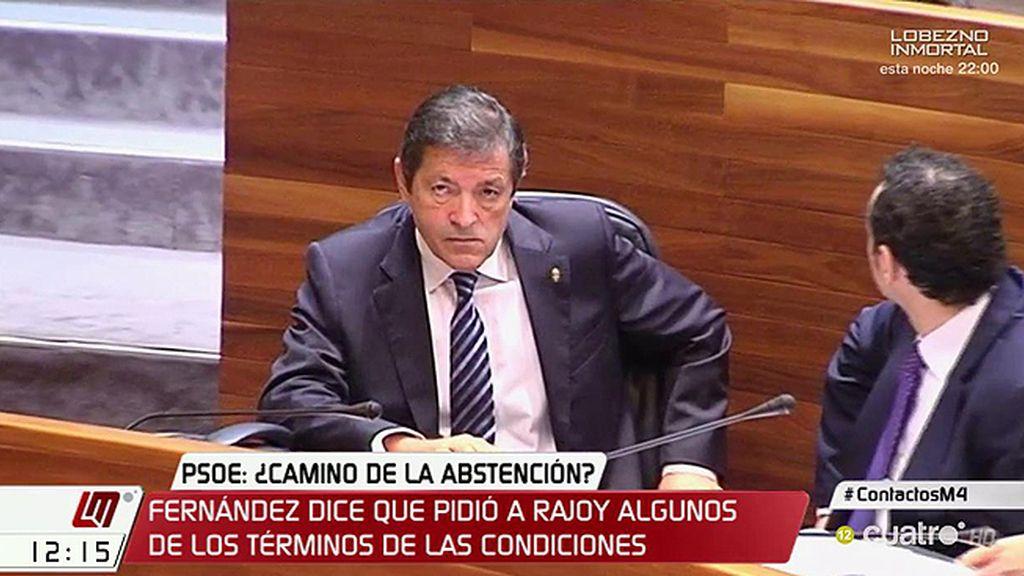 Javier Fernández y Mariano Rajoy se han reunido para hablar sobre la abstención