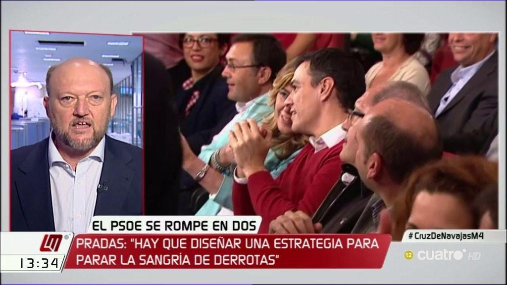 """Antonio Pradas: """"La ejecutiva federal del PSOE debe disolverse inmediatamente"""""""