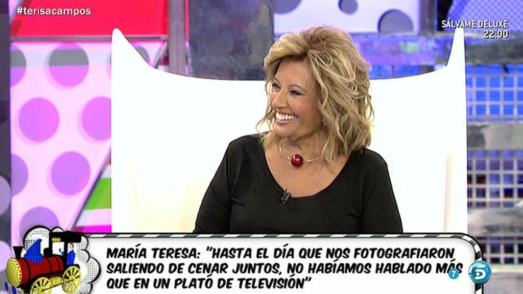 """María Teresa Campos: """"Edmundo y yo nos mensajeábamos por Whatsapp"""""""