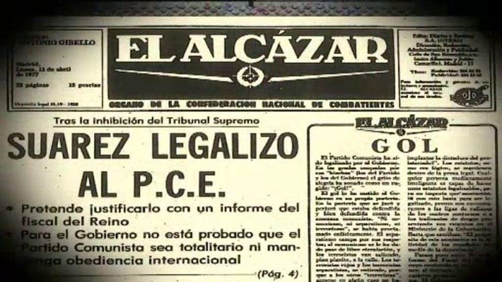 Adolfo Suárez decide legalizar al Partido Comunista de España sin casi apoyos