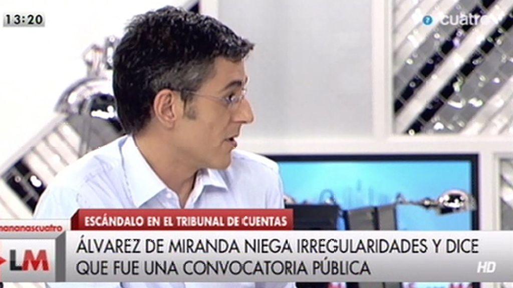 """Madina: """"Yo con Podemos tengo respeto, me pregunto si ellos tienen el mismo por el PSOE"""""""