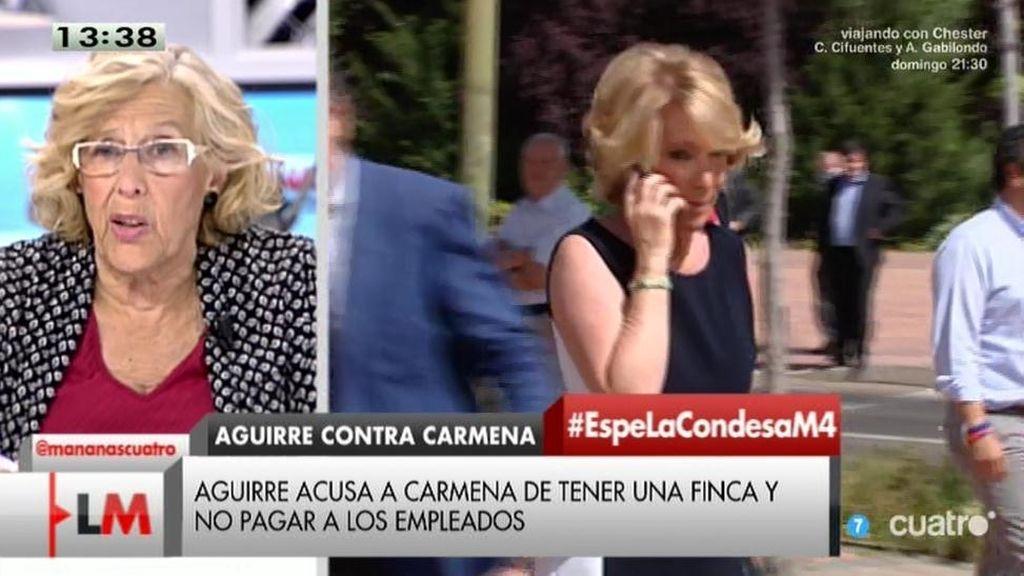 """Manuela Carmena, sobre Aguirre: """"Piensa el ladrón que todos son de su condición"""""""