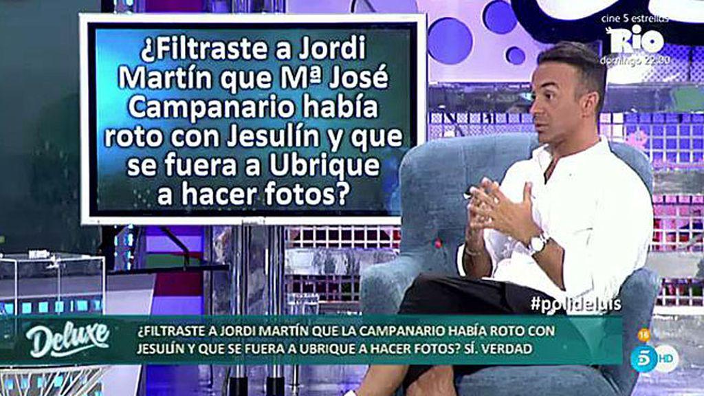 Luis tendió una trampa a Jordi M. inventando la ruptura de Campanario y Jesulín