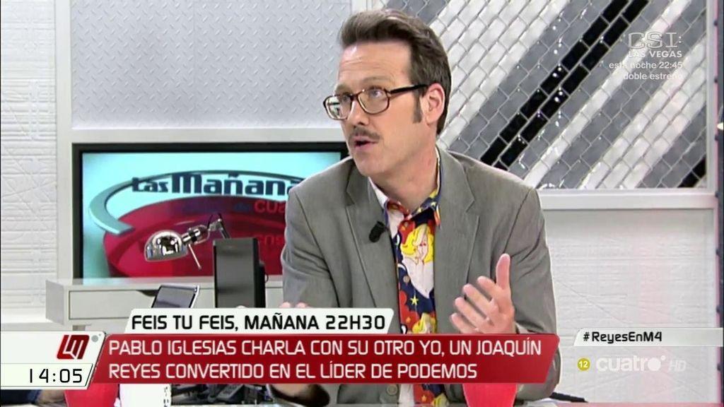 La hilarante descripción de Joaquín Reyes del mundo político: el cartón de Rajoy, las lágrimas de Rivera, el ataque a Sánchez...